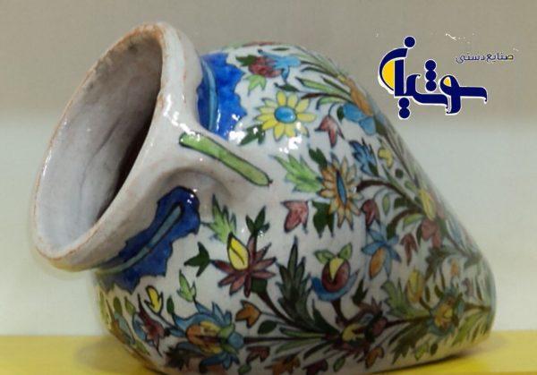 گلدان سفال نقاشی